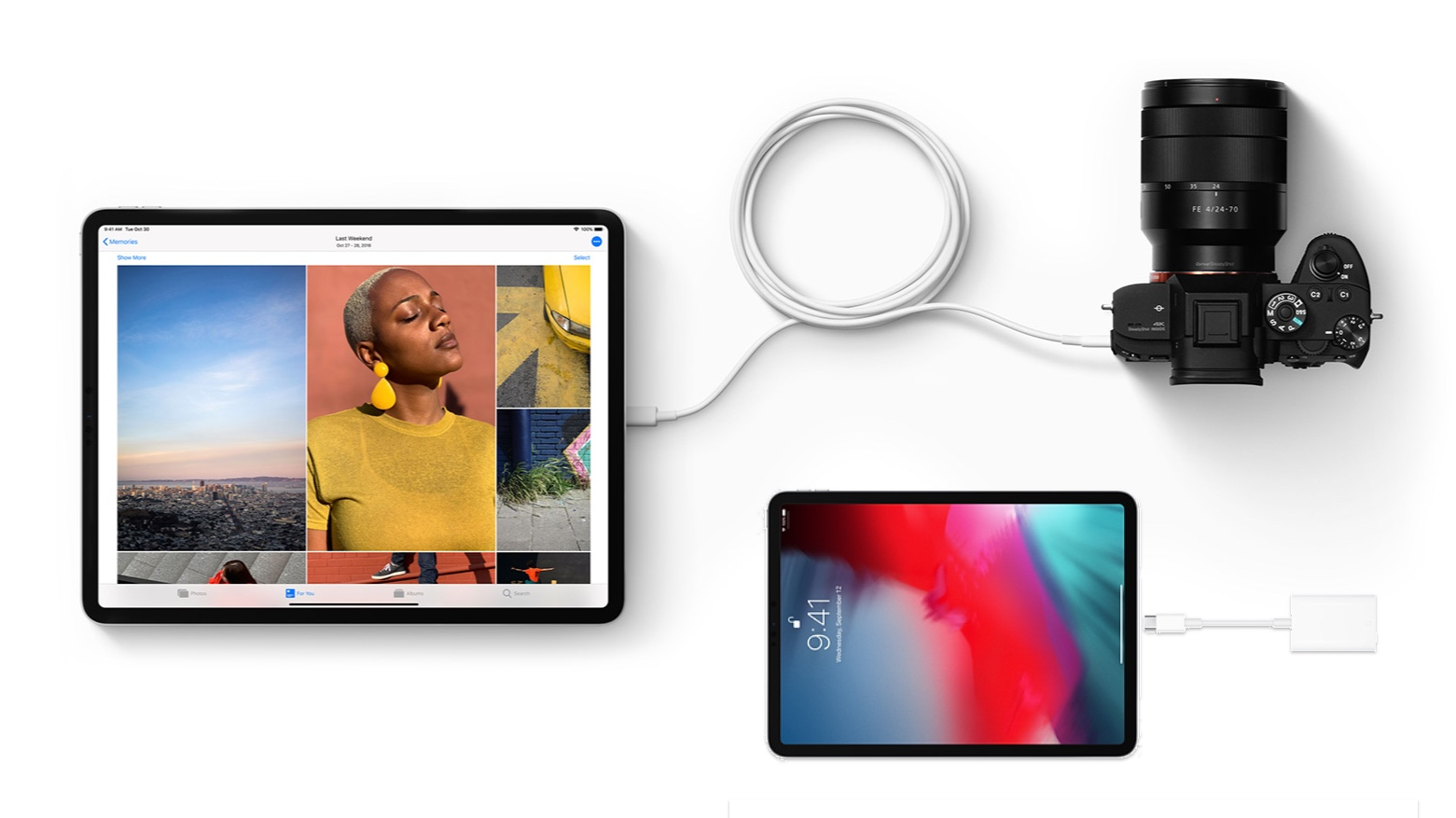 IPad Pro importing video and photos using the USB-C port